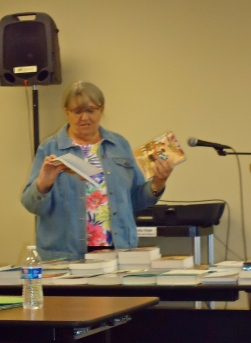Judy Ekback with Inspirational Resources.  Book discounts for church and school libraries